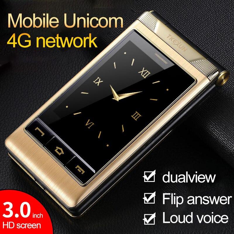 TKEXUN/Tiankexun G10-1 a renversé le téléphone portable des personnes âgées Unicom réseau de Dual-4G Mobile grand écran téléphone portable des personnes âgées