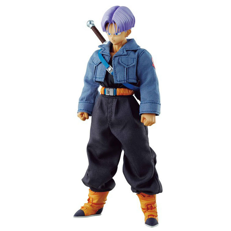 Dragon Ball Z Trunks Super Saiyan Pvc Action Figures DOD Real Clothes Japan Anime 19Cm Collection Model Doll with Box Kids Toys anime one piece dracule mihawk pvc action figures collection model kids toys doll 20cm
