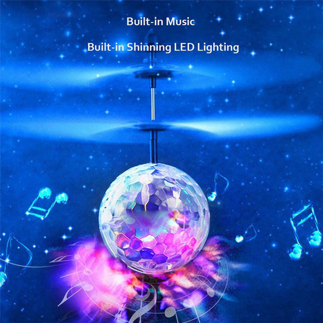 Flying Ball Drone Helicopter Ball Built-in Disco Music With Shinning LED Lighting