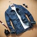 2017 Algodão Novos homens da Moda Jaquetas Jeans Homem Jaqueta Jeans Casaco, exerciseswear Jaqueta Casual Outerwear Jeans Plus Size 5xl