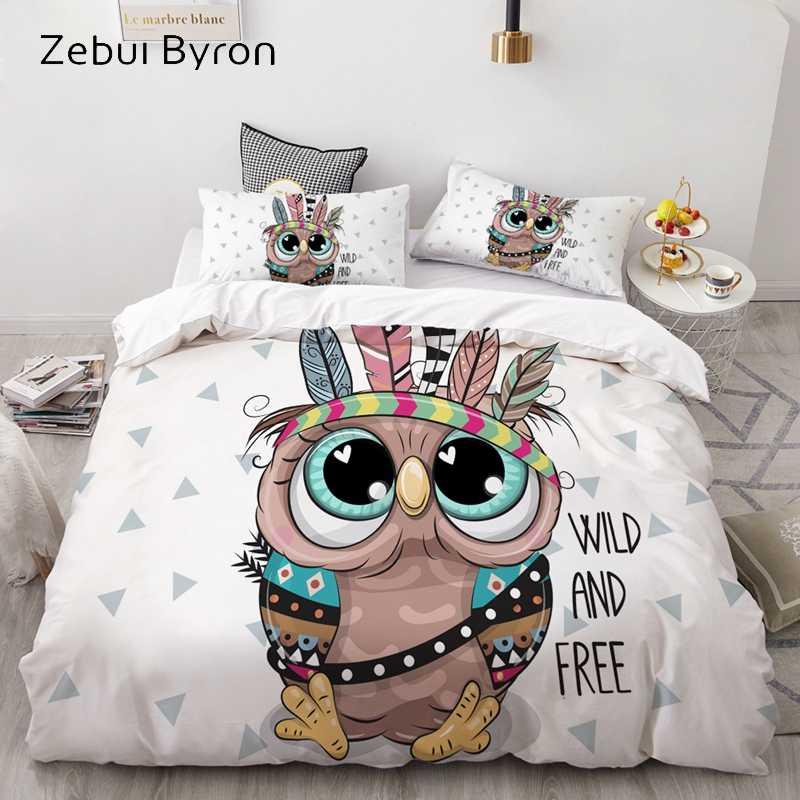 3D Dos Desenhos Animados Conjunto de Cama para Crianças/Bebê/Menino/Menina, capa de edredão Set EUA Queen/King, Colcha/Cobertor Tampa de cama Set Magic rainbow unicorn
