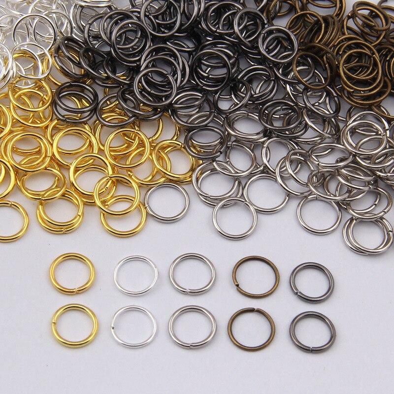 BRICOLAGE sac accessoires cerceaux tour 4/5/6/7/8/9/10mm connexion anneau anneau fermé 100 g/lot Fer Anneaux F7-9