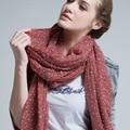 Sra. winter stars flocado de lana Coreana bufanda bufanda caliente B5034