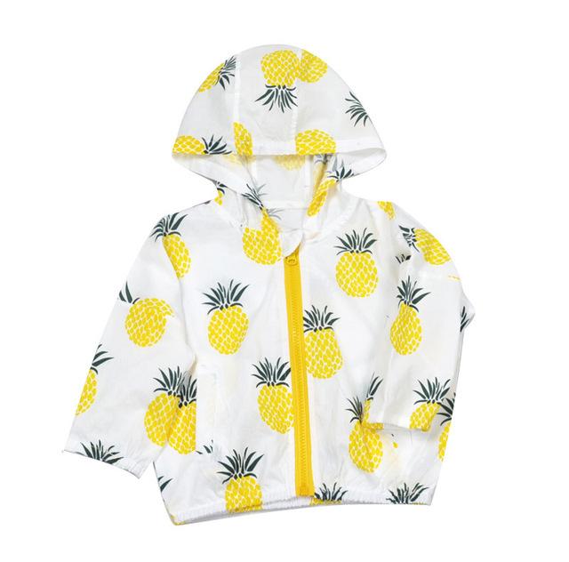 2016 ropa de protección solar camisa de la playa de impresión protección del medio ambiente del bebé del algodón transpirable capa de la manga