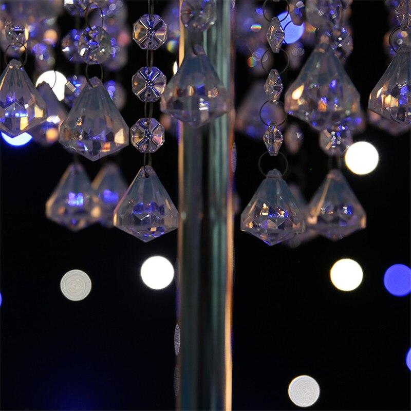Свадебные украшения Кристалл стол центральные три слоя Металл Кристалл столпов свадьбы украшения партии событие День рождения 70 см - 5