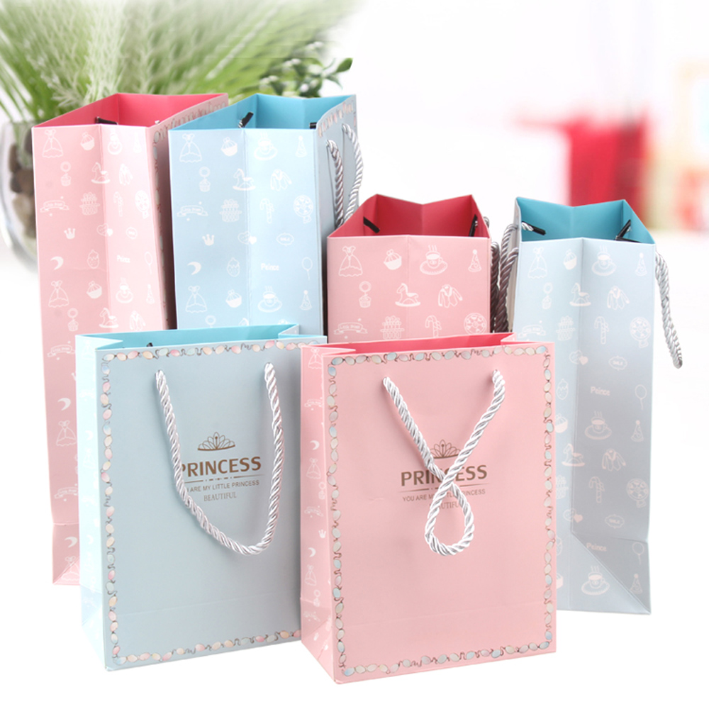 10pcs High Quality Gift Box Paper Gift Bag With Handle Wedding ...