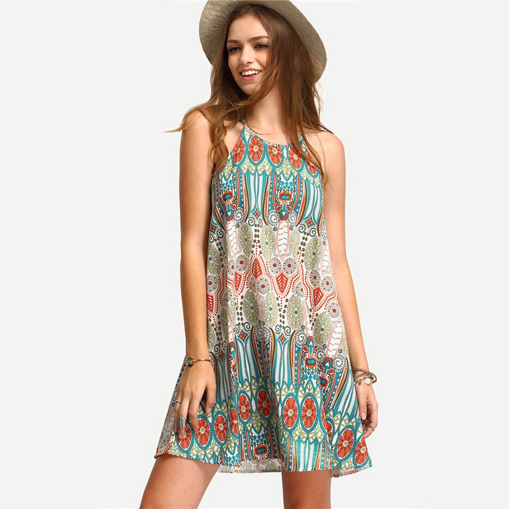 Women beach dress vintage sexy cover up summer mini dress for Cocktail express