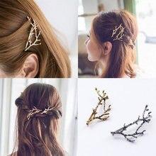 Фотография M MISM Hot Sale Metal Tree Branch Hairpins Hair Clips for Women barrettes female Headwear jewelry christmas tree decorations
