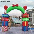 Customized 210D oxford material 3m Wide colorful inflatable Christmas arch,festival gift archway gantry by Ace Air Art