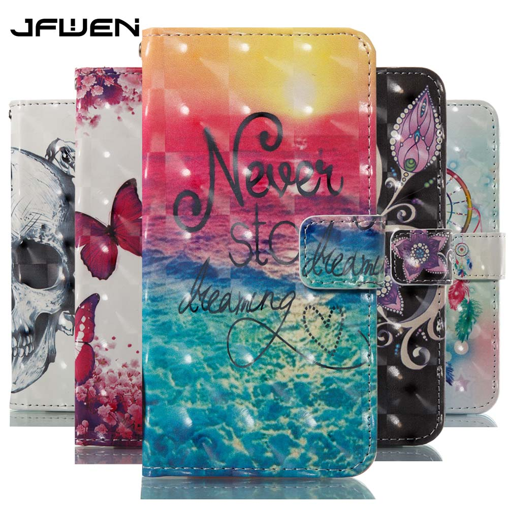 JFWEN For Coque Samsung Galaxy S9 Case For Samsung Galaxy S9 Plus Case Cover Flip 3D Leather Magnetic Mobile Phone Bags Capa(China)