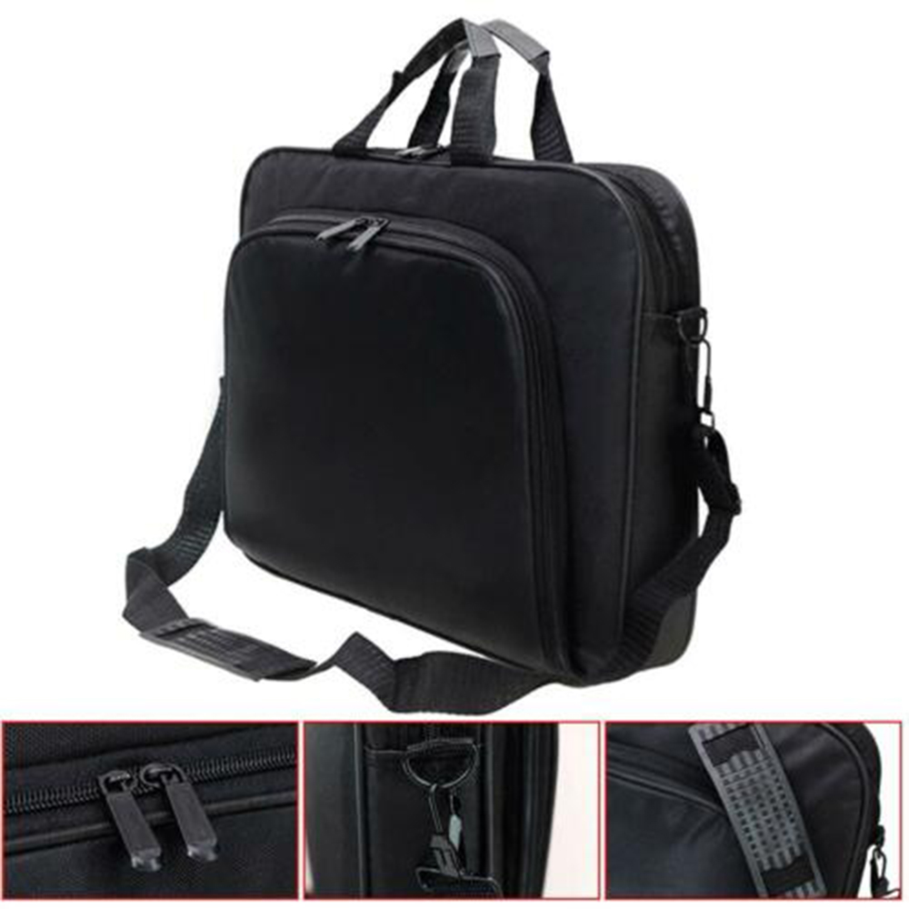 15 Inch Portable Notebook Handbag Shoulder Laptop Notebook Bag Case For Macbook Air Pro Retina Computer PC Black MT