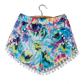 Women Shorts Fashion Hot Women's High Waist Tassel Print Beach Casual Mini Shorts Short Pants