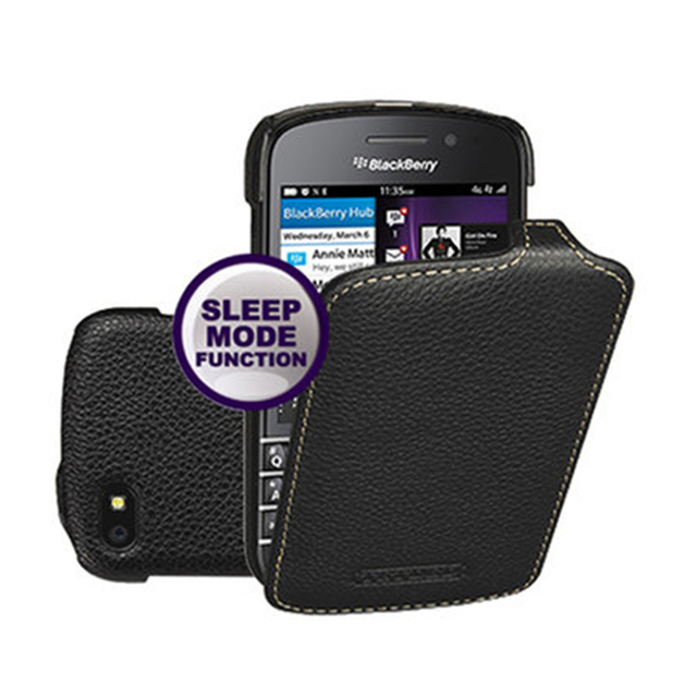 uk availability 67dc2 6f54b US $37.37 11% OFF|Business Up Down Flip Smart On/off Phone Shell for BB Q10  Cases Cow Genuine Leather Protective Cover Bag for BlackBerry Q10 Case-in  ...