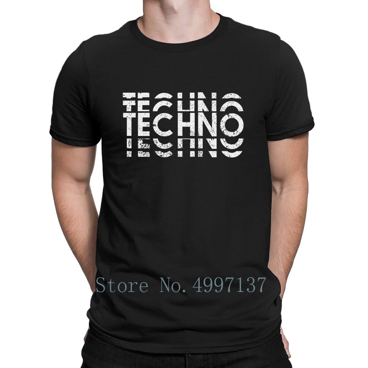 Techno T Shirt Printing Graphic Cool Natural Spring O-Neck Tee Shirt Humor Shirt