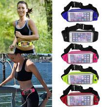 Perjalanan Kalis Air Pinggang Sukan Running Belt Money Wallet Pouch Untuk iPhone 6 Plus 5.5 Sukan Pack Hiking Leisure Mini Zip Bag