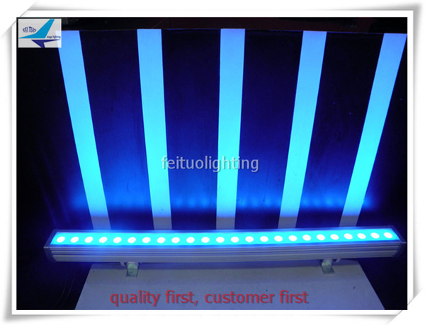 8pcs Outdoor build ip65 waterproof lighting fixture led bar 24x3w rgb led wall washer light dmx wallwasher