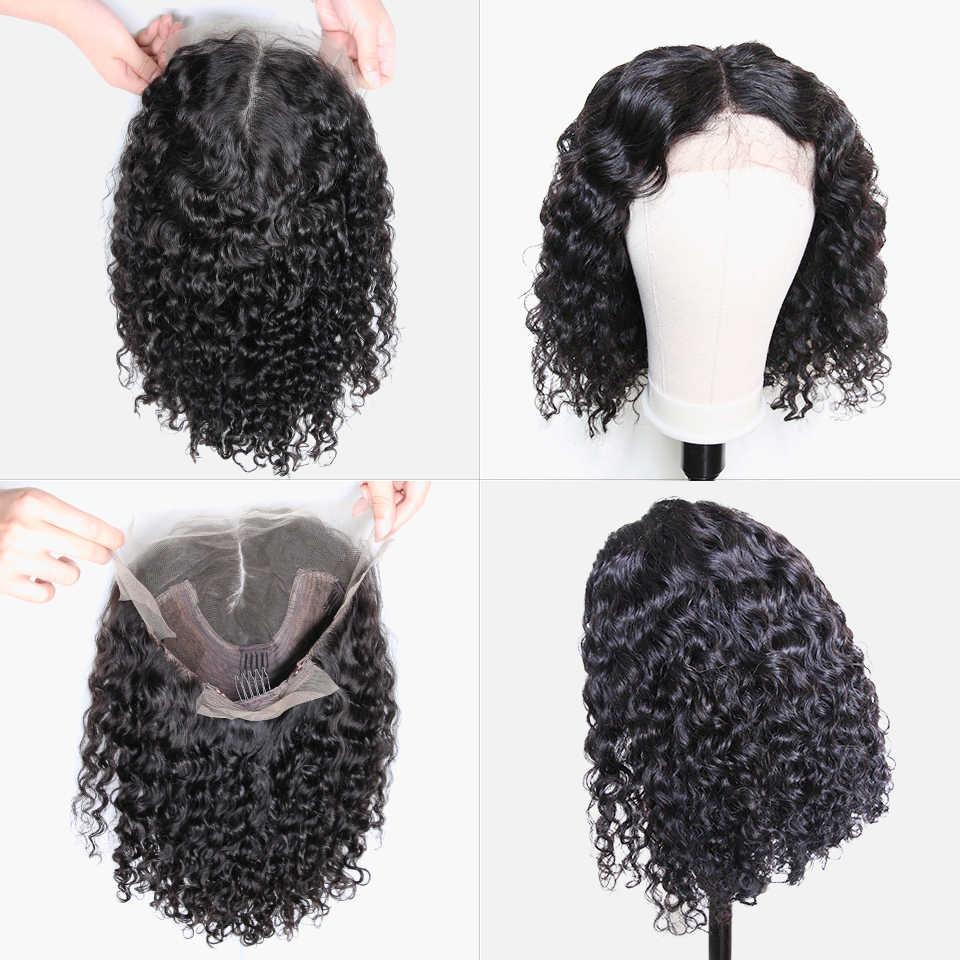 Парики из натуральных волос на кружевной основе, кудрявые волосы, бразильские волосы remy, парики из натуральных волос