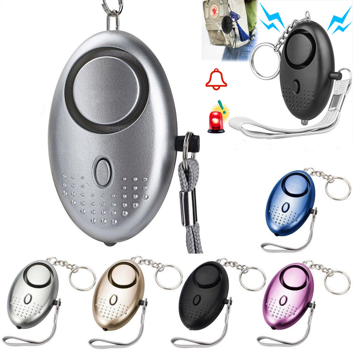 Self Defense Alarm Girl Women Kids Security Protect Alert Personal Safety Scream Loud Keychain Emergency Alarm