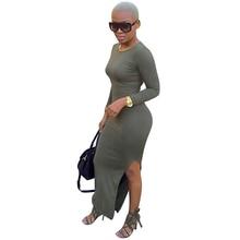 Sexy herbst Frauen Stretch Bodycon Kleid Split Verband Clubwear Abend Party Kleid Clubwear Mantel Boho Langen Ärmeln kleider