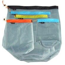Camping Sports Mesh Storage Bag Ultralight Outdoor Stuff Sac