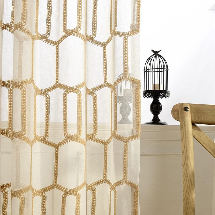 feuille arriere brodee en velours pour enfant americain 2017 rideaux de luxe brodes en nid d abeille voile dore et blanc