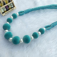 Curtain Accessories Handmade DIY Colorful Beads Hanging Straps For Home Curtains Holder Pearl Clips All-match Home Tiebacks #4