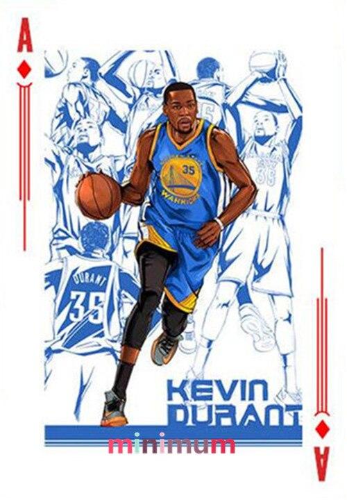 Brand New 5D DIY Diamond Painting Basketball Stars Cross Stitch Athlete Portrait Poker Form