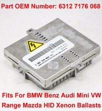 1PCS 12V 35W D2S D1S OEM HID Xenon Headlight Ballast Compute Control Unit Part 63127176068 For BMW Benz Audi Mini VW Mazda Range 1pcs 12v 35w d1s d2s oem hid xenon headlight ballast computer control unit car part number 63117237647 fits for bmw rolls royce