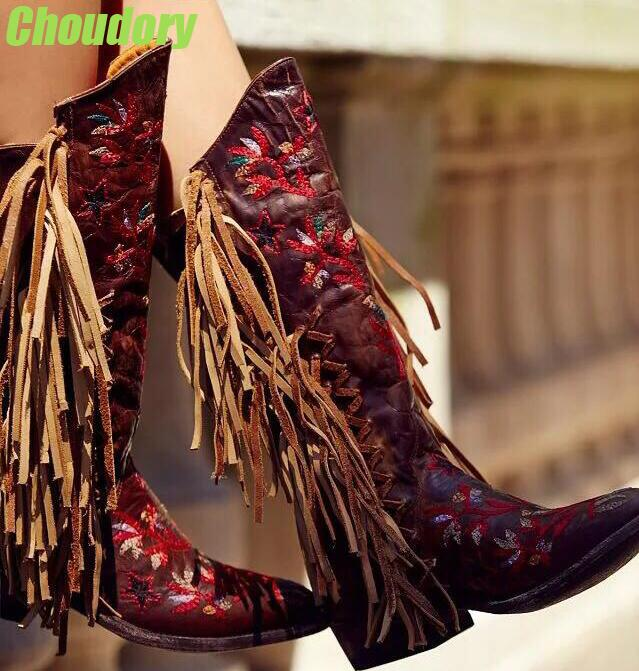 Popular Fringe Cowboy Boots for Women-Buy Cheap Fringe Cowboy ...