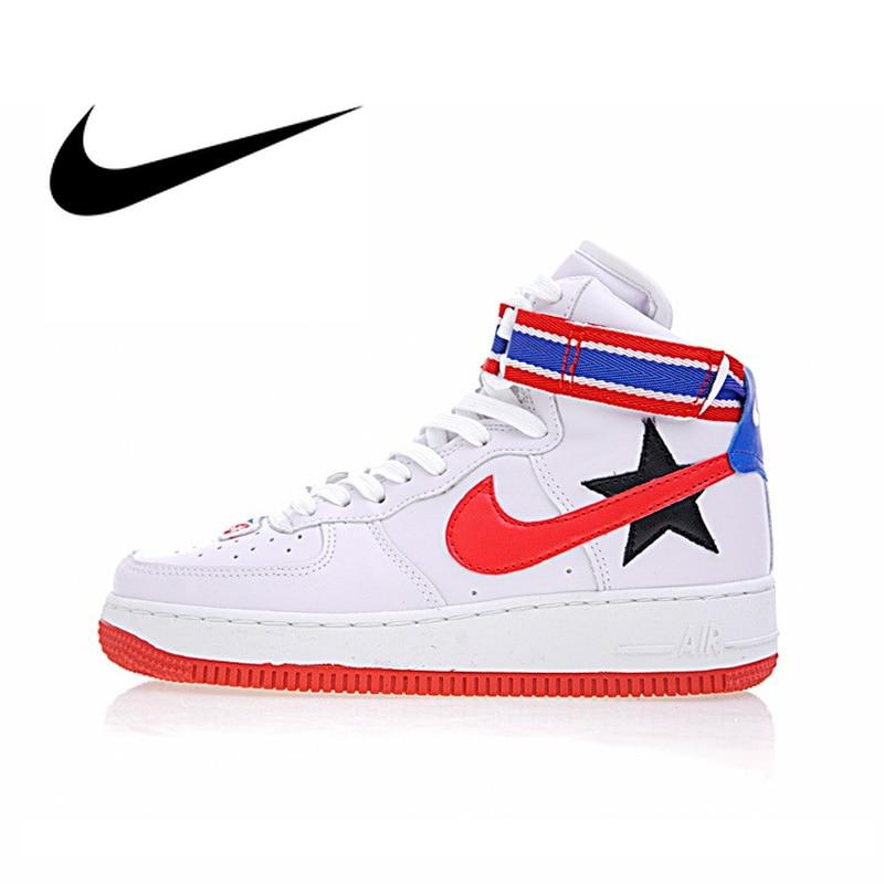 e46569d1 Оригинальный NikeLab Air Force 1 Hi/RT Для женщин Скейтбординг обувь  спортивные кроссовки спортивные Дизайнерская обувь 2018 Новый AQ3366-100