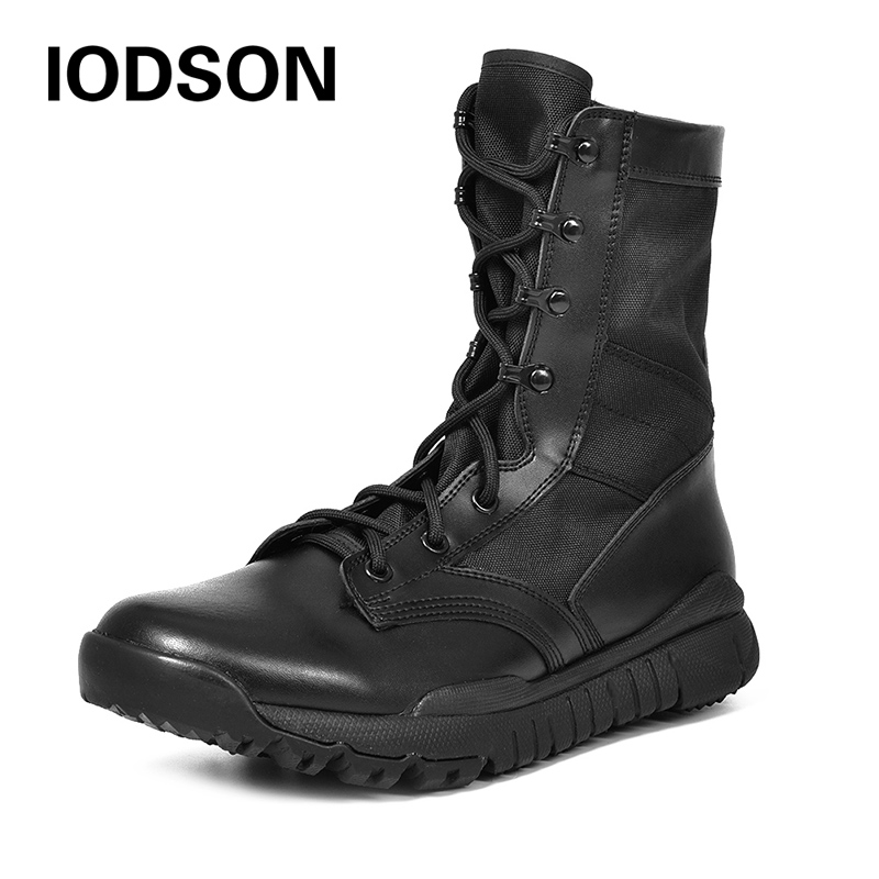 Autumn Outdoor Army Boots Men's Special Force Military Tactical Boots Desert Combat Boots Shoes Waterproof Ankle Boots IDS305