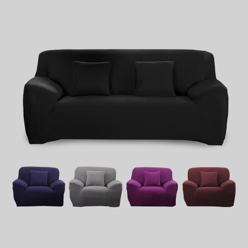 Cover Big Elasticity 100% Polyester Spandex Stretch Couch Cover Loveseat Sofa Towel Furniture Cover Machine 39