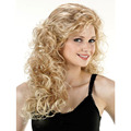 Long Blonde Wig Curly Wavy Women's Wig Peruca Synthetic Wigs for Black Womens Pruiken Perruque Synthetic Women Pelucas Sintetica