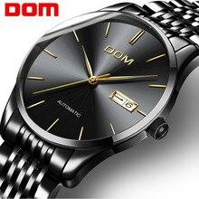 DOM New Design Automatic Men Watch Fashion Casual Male Business Clock Men Mechanical Wristwatches Relogio Masculino M 89BK 1M
