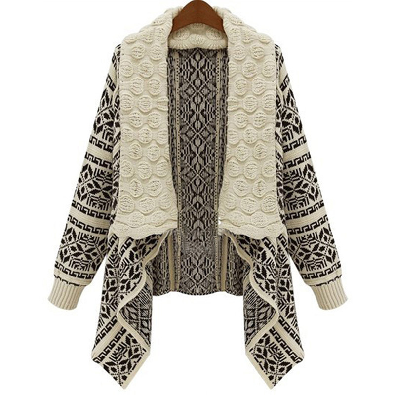 New Women Autumn Ladies Knitted Cardigan Casual Outwear Sweater ...
