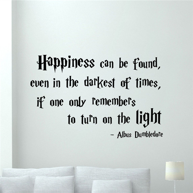 shipping diy harry potter quotes wall decal happiness can be