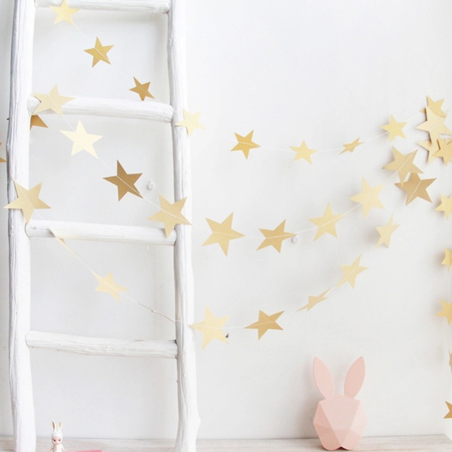 4M Paper Garland Star Shape String Banners Party Decoration