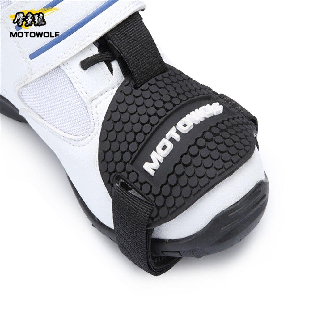Резиновая износостойкими мотоцикл Шестерни Shift Pad обувь для верховой езды потертости Mark протектор мотоцикл Сапоги и ботинки для девочек кры...