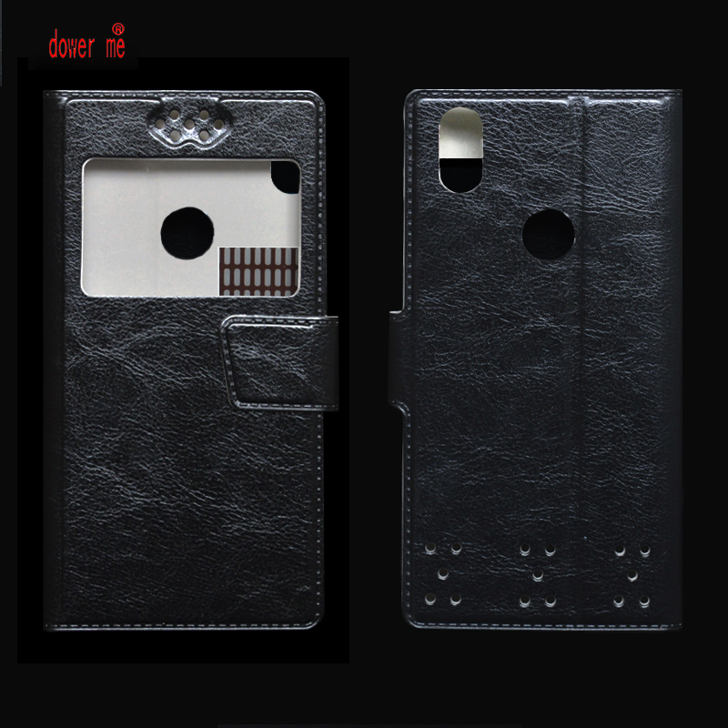 dower me New Flip PU Leather Case Cover For Vivo X21 Smartphone