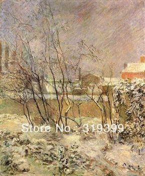 Oil Painting Reproduction on Linen canvas,Garden in Snow,100% handmade,Fast Ship,Paul Gauguin Oil Painting