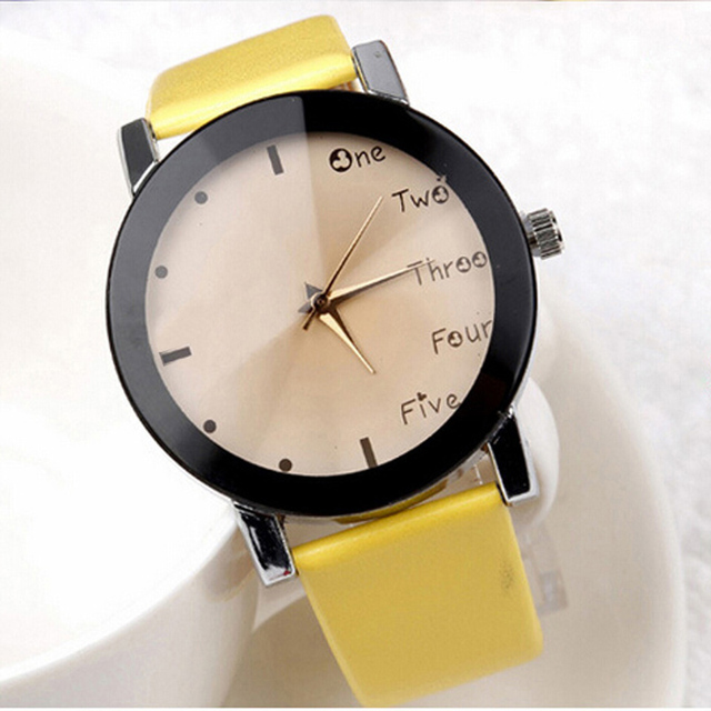 2016 Neutral Leisure Letters Wrist Watches Motion Simulation Of Electronic Quartz Watch reloj kol saati Good-looking JUL 21