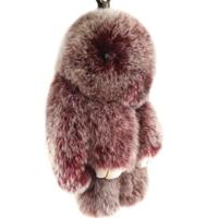 Free Shipping New Design Light Bulb Shaped Genuine Lamb Fur Bag Keychain Pendant Key Chain Bag