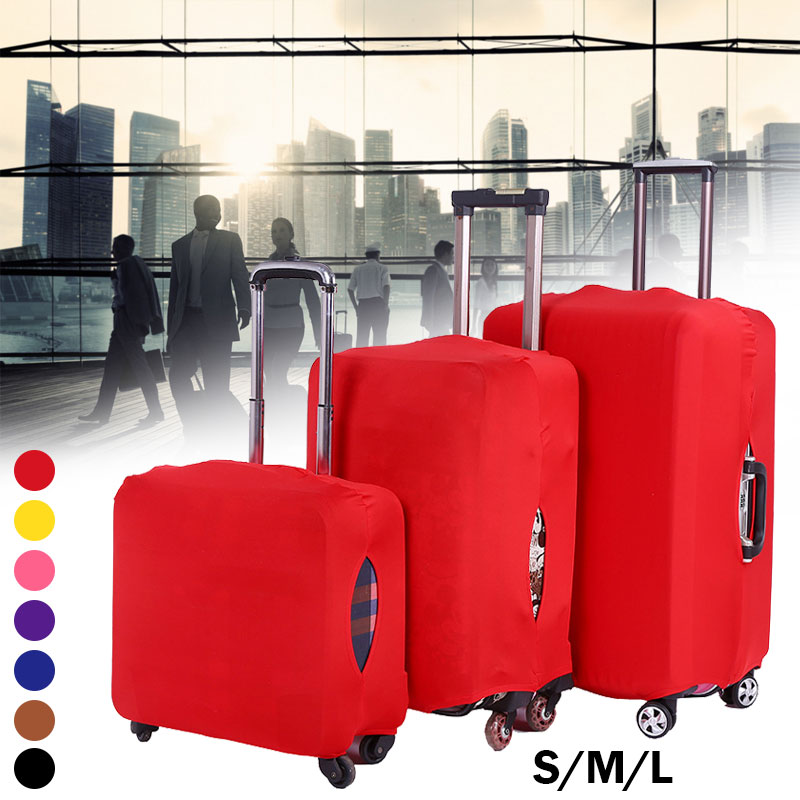 New Travel Elastic Luggage Cover Protector  Stretch Fabric Zipper Suitcase Protective Covers Travel Accessories Case For Luggage