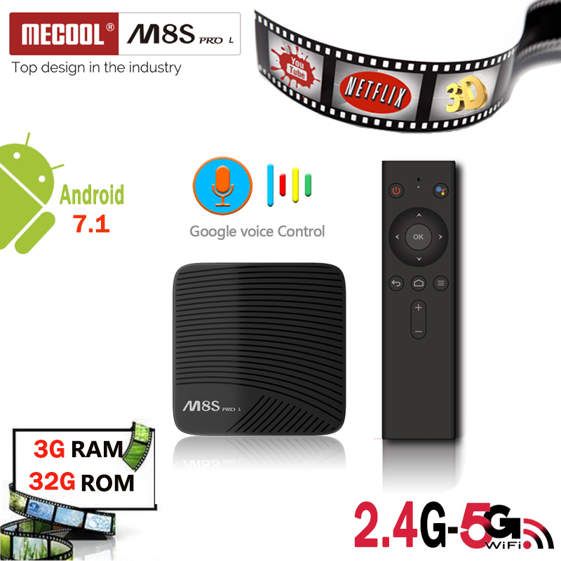 M8S PRO L голос Управление android tv box amologic s912 3 ГБ DDR3 16 ГБ/32 ГБ rom 2,4/5 г Wi-Fi Восьмиядерный BT4.0 4k 1080P телеприставке