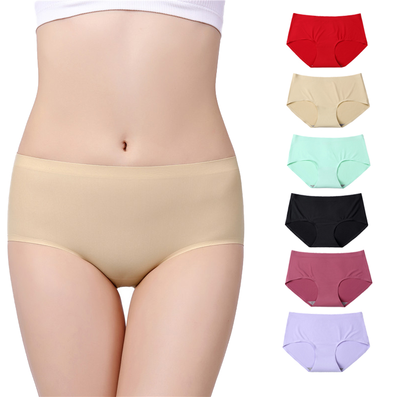 2019 summer plus size M-4XL Ladies underwear Women's  Panties  Intimates Quick dry seamless triangle big yards of female briefs