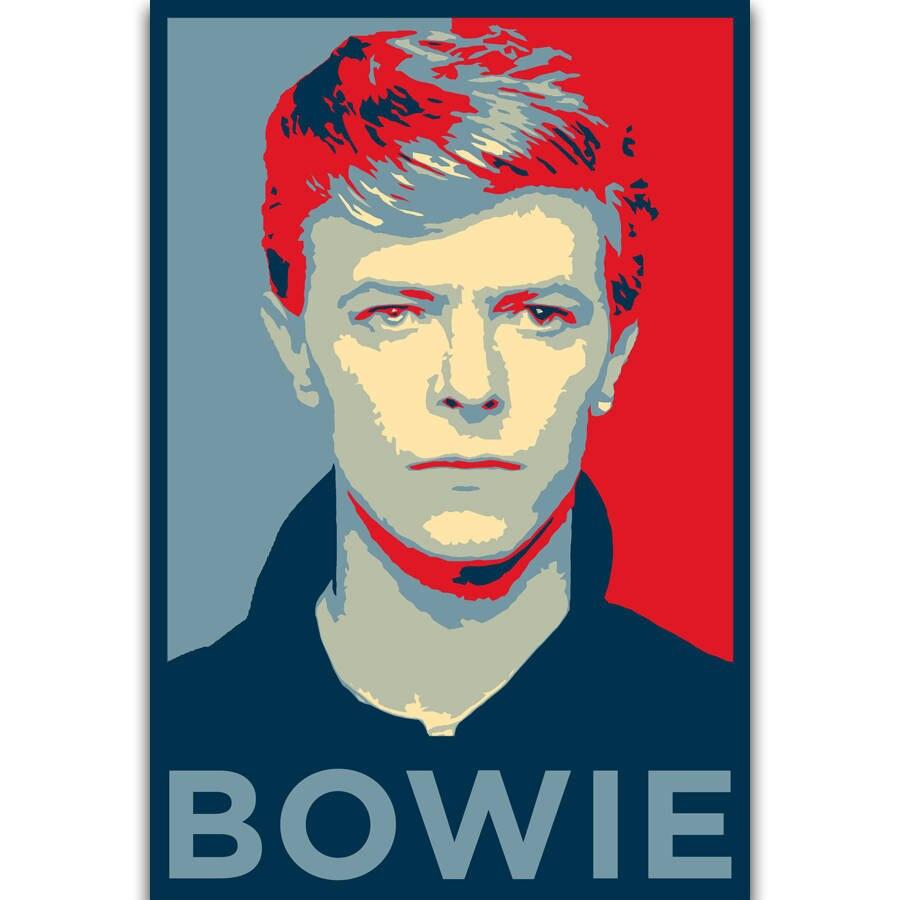 DAVID BOWIE Art Silk Poster 12x18 24x36
