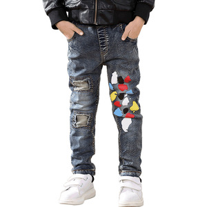 Image 3 - Fashion Winter Warm Boys Jeans Children Thicken Add Wool Denim Trousers Toddler Boys Clothes Teenager Washing Blue Jeans 3 10Yrs