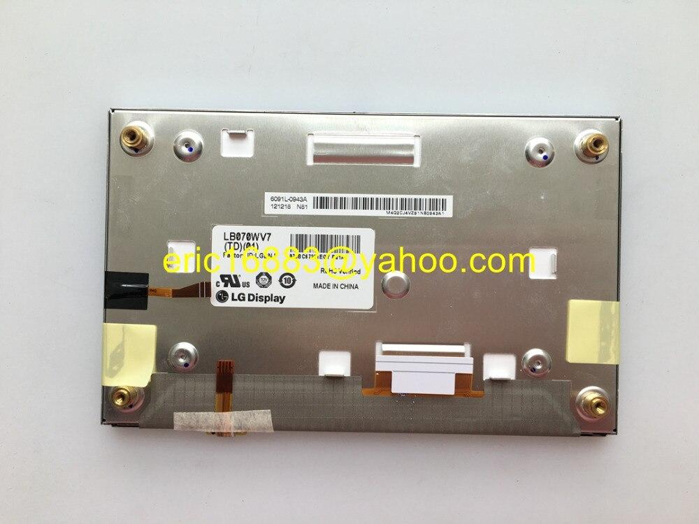 Free DHL EMS Original new 7inch LCD screen LB070WV7 TD01 LB070WV7 TD01 Display for Car Navigation