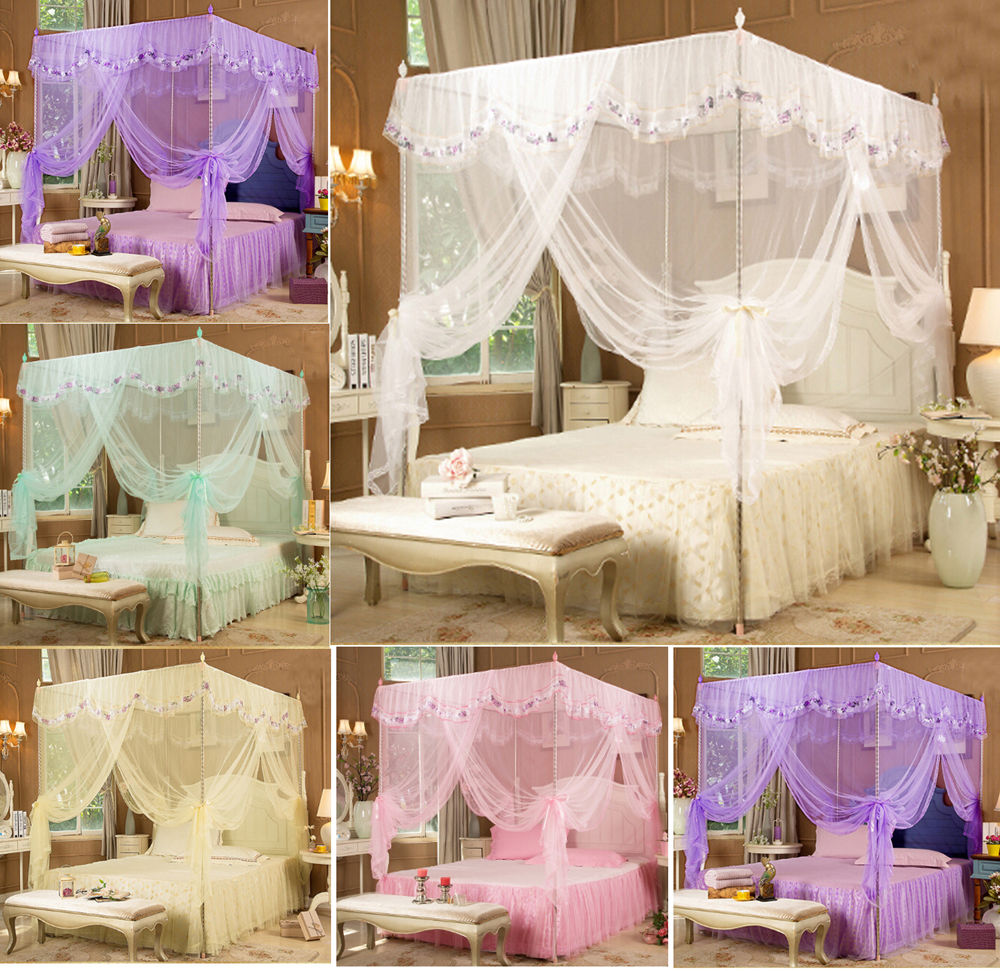 Hight QC Bed Canopy Mosquito Net Tent For Twin Queen Small King Bed ...