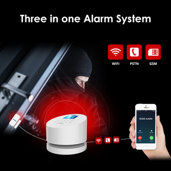 KERUI W2 2.4 Inch Screen WIFI GSM PSTN Alarm System Security RFID Card Disalarm Motion Detector Smart Home Burglar Alarm System 2